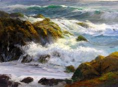 Surf Off Rocky Point by Gil Dellinger Acrylic ~ 18 x 24