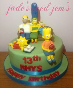 The Simpsons cake.