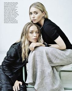 Mary Kate Ashley Olsen - Elle December The Row Mary Kate Ashley, Mary Kate Olsen, Elizabeth Olsen, Fashion Fotografie, Olsen Twins Style, Olsen Sister, Look Street Style, How To Pose, Mode Inspiration