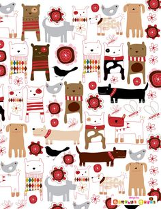 dog pattern by Carolyn Gavin