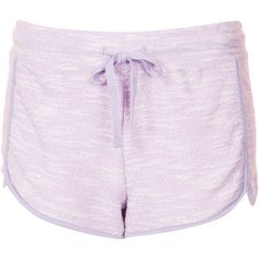 TOPSHOP Contrast Marl Runner Shorts (€7,94) ❤ liked on Polyvore featuring shorts, bottoms, clothes - shorts, short, lilac, short shorts and topshop shorts