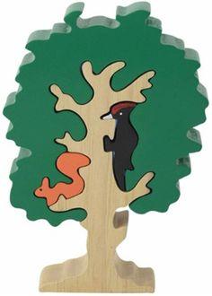 Puzzle Tree Woodpecker Squirrel