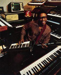 Herbie Hancock in the studio    Music Studio