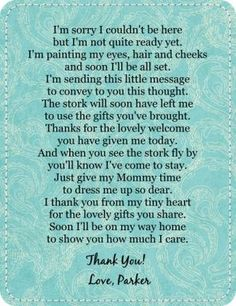 Have you searched for a great baby shower poem? If so, your search is over.