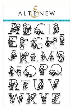 English Alphabet Clear Stamp with flower / Creative Letter S.-English Alphabet Clear Stamp with flower / Creative Letter Silicone Stamp / Clear Stamp / Scrapbooking Stamp / Bullet Journal Stamp - Pretty Fonts Alphabet, Cursive Alphabet, Hand Lettering Alphabet, Alphabet Stamps, Doodle Lettering, Creative Lettering, Doodle Fonts, Doodle Alphabet, Doodle Art Letters