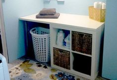 "Explore our internet site for even more relevant information on ""laundry room storage diy shelves"". It is a superb location to get more information. Porch Storage, Laundry Room Organization, Laundry Storage, Cube Storage, Diy Organization, Storage Shelves, Storage Ideas, Clothes Storage, Ikea Storage"