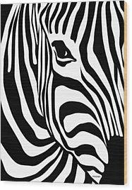 Zebra Wood Print by Ron Magnes