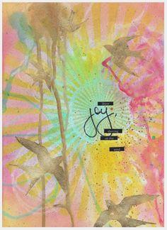'Joy' - Art Journal Page by Kyla deRuiter at http://inkyfingersstore.blogspot.com.au/
