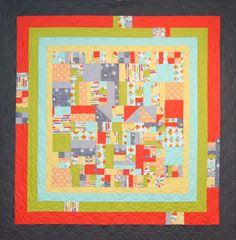 """Framed!"", 2014  Michael Miller Fabrics Michael Miller Challenge at MQG (Modern Quilt Guild)"