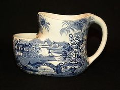 Clarice Cliff Royal Staffordshire Blue Tonquin Shaving Mug Free USA Shipping   eBay