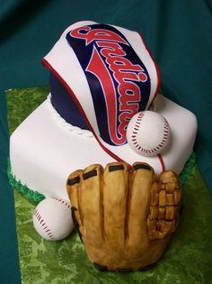 cleveland indians cake - Groom's cake