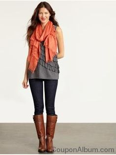 :) anything with scarves and boots