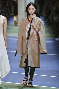 Phoebe Philo shocked everyone last season by introducing something we thought was dead and gone: the legging. Céline stretchy pant were styled under dresses and skirts proving it's about time we embraced the cozy look.