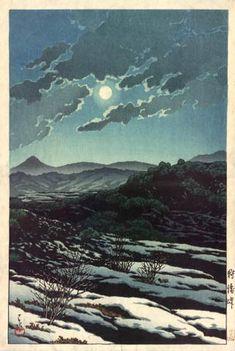 """Karikachi Pass"" by Kawase Hasui, woodblock print, 1927 (published by Bijutsusha)"