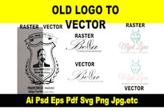Convert to vector redesign your logo with in 2hrs by Goal_designer Unique Business Cards, Business Card Mock Up, Professional Business Cards, Business Card Design, Vector Logo Design, Text Design, Office Graphics, Vector Converter, Cartoon Design