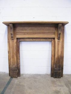 Columbus Architectural Salvage - Unfinished Wood Fireplace Mantel