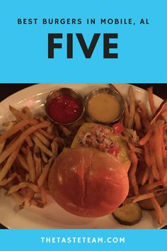 Best burgers in Mobile at Five Restaurant and Bar