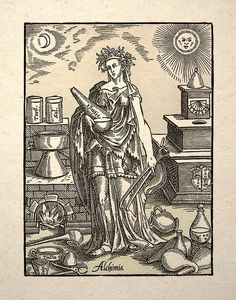 Alchimia, the spirit of Alchemy.