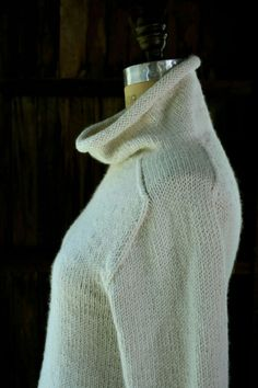 Worsted knit sweater