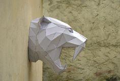 Faites votre propre Tiger Sabertooh. Papercraft par PlainPapyrus