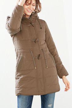 4000**EDC / Vatovaný dufflecoat, plyš. podšívka