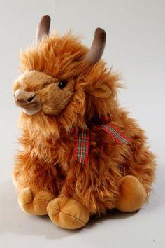 Hairy Coo (Highland Cow) stuffed animal. Nursery