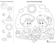 Look Find Coloring Pages