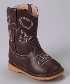 Another great find on #zulily! Brown Squeaker Cowboy Boot #zulilyfinds