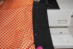 how to make a wide elastic band skirt. how to attach an elastic band to skirt, tutorial, sew