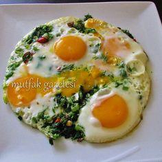 Yumurtalı arapsaçı(rezene) kavurması