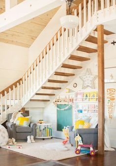 Beautiful small space inspiration: Turning a small space into a dedicated play area if you don't have a whole room. Kids don't need a lot of space!    Lay Baby Lay