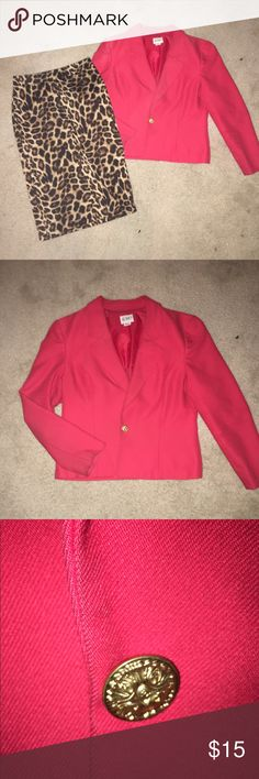 Koret Red Blazer Awesome red blazer with gold button. Preloved but in great condition. Koret Jackets & Coats Blazers
