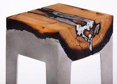 Hilla Shamia casts tree trunks with aluminium to form furniture