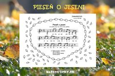 Pieseň o jeseni - Nasedeticky. Letter Board, Children, Kids, Poems, Preschool, Place Card Holders, Journal, Education, Music