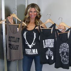 Judith March Racerback Graphic Tanks 4 Styles (Southaven)