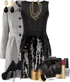 """New Year's Black, Gold and Silver Contest"" by angkclaxton on Polyvore"