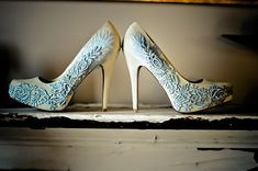 Wedding shoes?  Perhaps!!! Winter Wedding Color Ideas of Pale Blue
