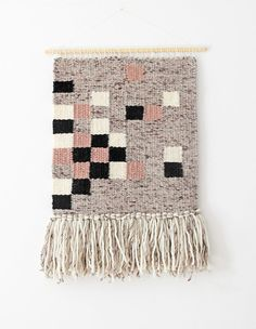 Woven wall hanging | Bohemian wall hanging| Boho style wall tapestry | Wall decor | Home decor | Wall weaving white, black, beige, off white/grey