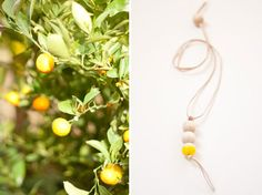 Inspired by St Trop', a necklace with a bright yellow touch.