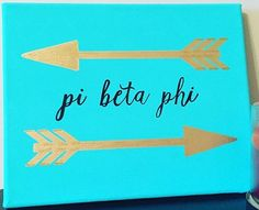 Pi Beta Phi arrow craft #piphi #pibetaphi