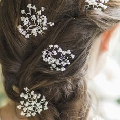 Image of Gypsophila Hairpins - click to view