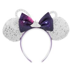 Space Mountain: The Main Attraction Ears Brand new with tags- just released today! Minnie: The Main Attraction Space Mountain Ears Disney Accessories Hats Walt Disney World, Disney Parks, Disney Worlds, Space Mountain, Disney Ears Headband, Ear Headbands, E Online, Downtown Disney, Disney Springs