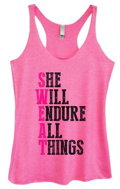 Womens Tri-Blend Tank Top - She Will Endure All Things