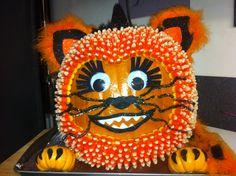 Halloween candy corn kitty pumpkin!!!