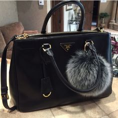 Trending Chic Real Fox Fur Furry Ball Back In Stock!  super Chic & Fluffy Real Fox Fur Ball for your luxury handbag. This is a fashion statement! One accessory that adds so much personality to all your handbags, versatile, premium quality made in Korea, comes with gold buckle. Please see pictures for size comparison (purse not included). Real fox fur ball sells $300-400 at designer stores, this is the best alternative you will find :) I also have other colors available, black/royal purple…