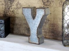 7 Inch Metal Letter/ Metal Letters/ Industrial Letters/ Rustic Letters/ Shabby Chic Decor/ Wall Letters/ Free Standing Letters