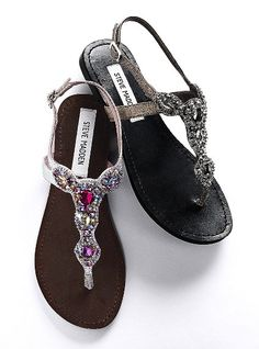 Steve Madden Sandals from Victoria Secret Cute Sandals, Cute Shoes, Me Too Shoes, Summer Sandals, Pretty Sandals, Embellished Sandals, Shoe Boots, Women's Shoes, Fashion Shoes