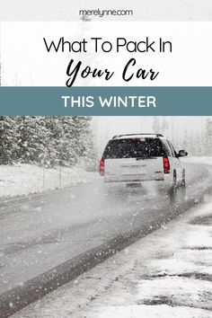 Great list of what to pack in your car when the weather turns cold to make sure you're protected. Winter Travel Packing, Self Defense Tips, Winter Road, Road Trip Hacks, Travel Items, What To Pack, Family Travel, Weather, Cold