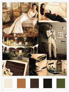 vintage havana: wedding & braidsmaid's dress: lazaro bridal; location: hacienda san antonio, mex; suit: benjamin bixby: beauty: zenmotion.net; stationary & car: unknown