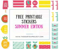 The Dear You Project | Freebie summer stickers